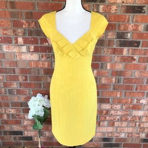 Nanette Lepore Sunshine Yellow Embroidered Dress